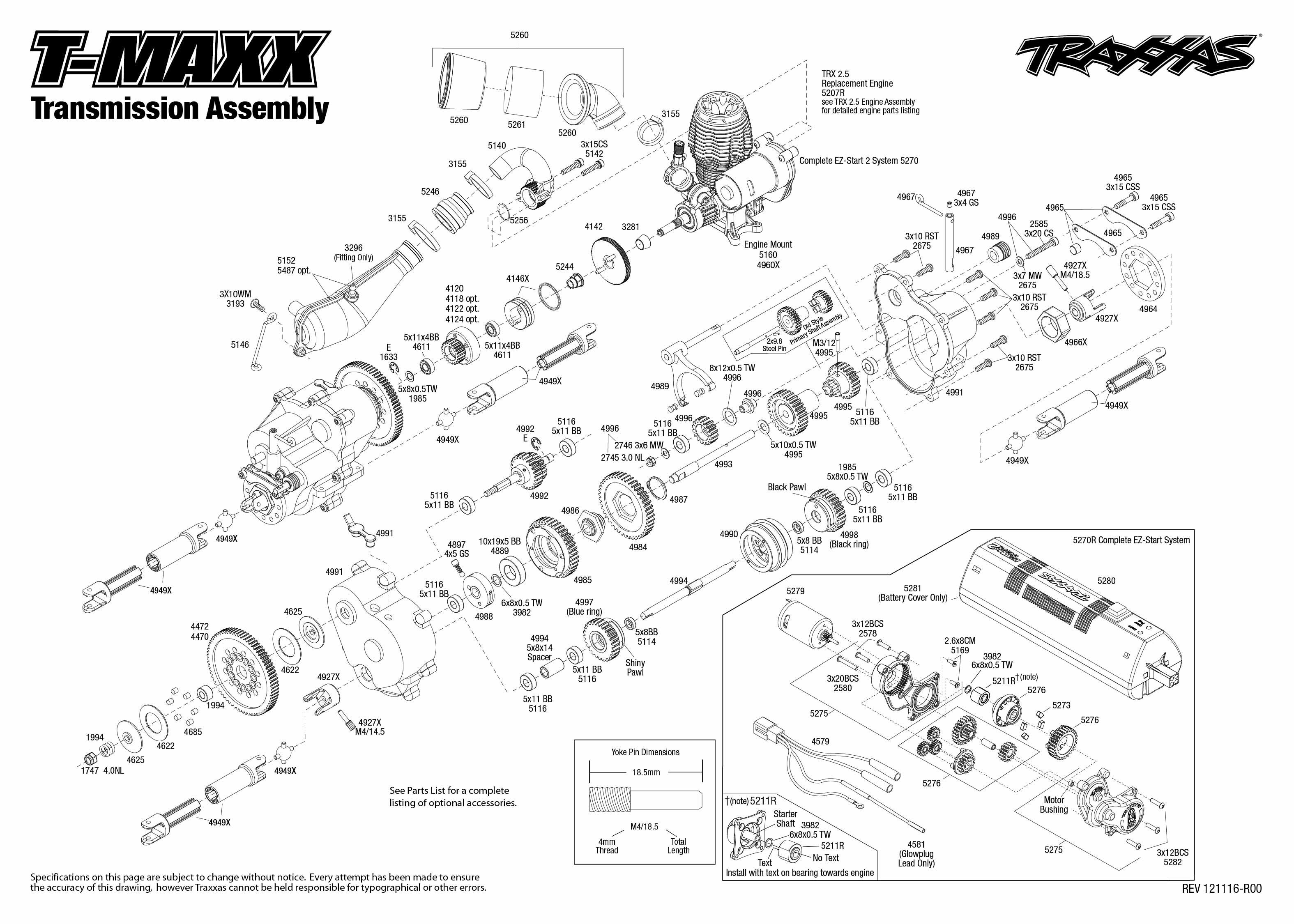 T Maxx Transmission Assembly